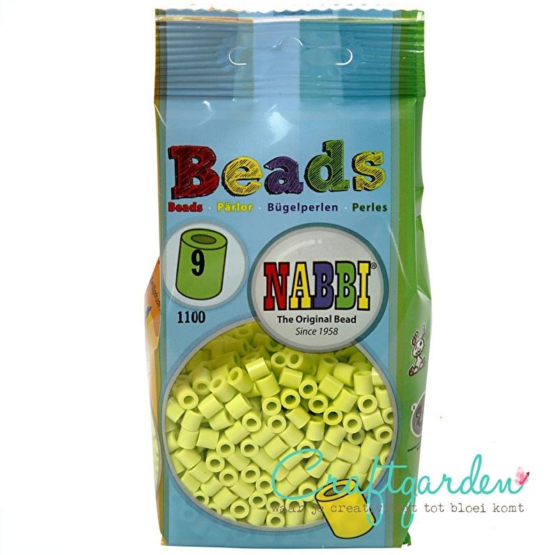 Strijkkralen - Nabbi - kleur - lime groen - 9