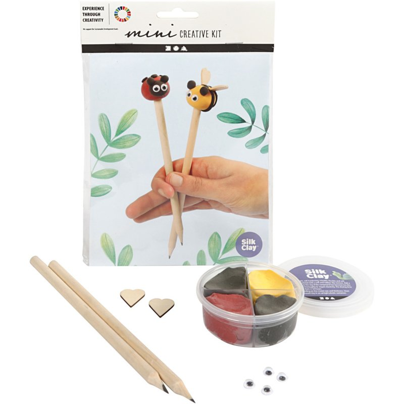 Mini Creative Kit-boetseren - potlood toppers, 1set
