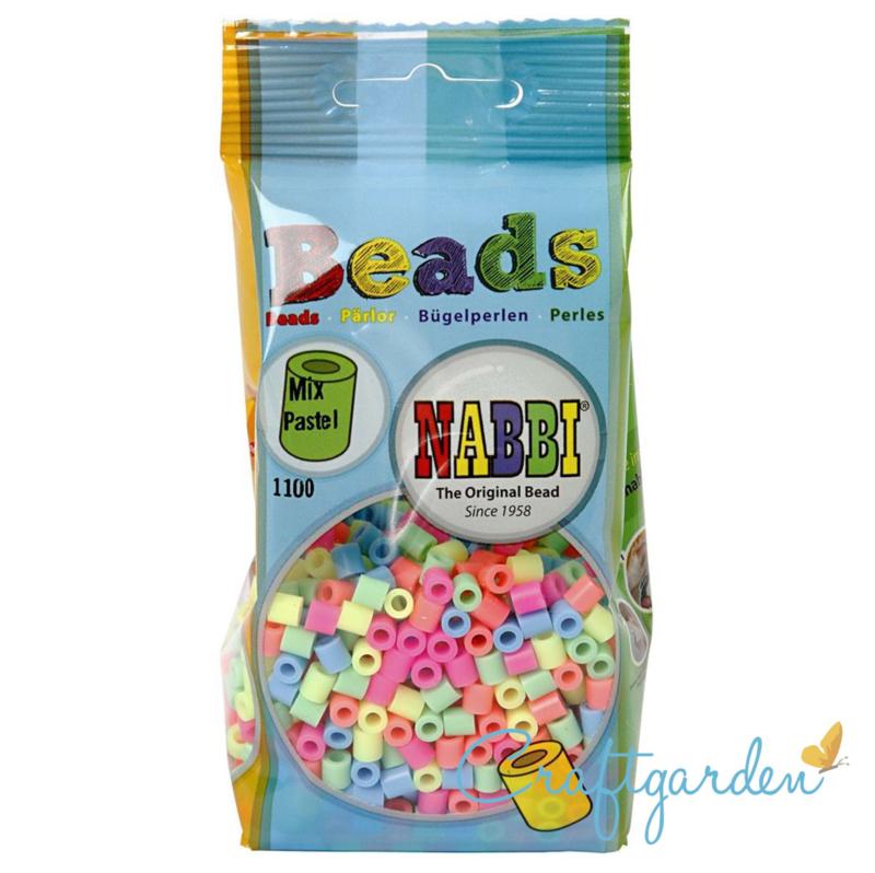 Strijkkralen - Nabbi - kleur - kleuren mix - pastel