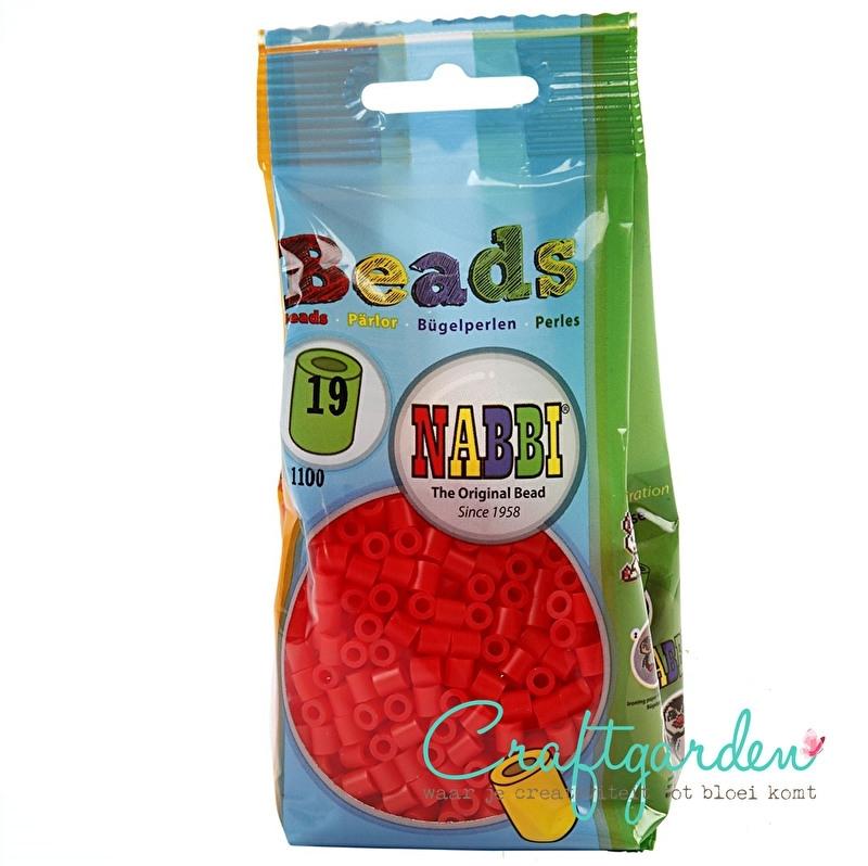 Strijkkralen - Nabbi - kleur - licht rood - 19