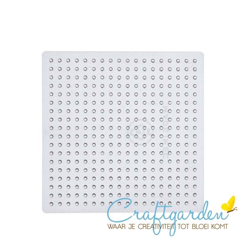 Strijkkralen - medium - grondplaat - vierkant - 9 x 9 cm