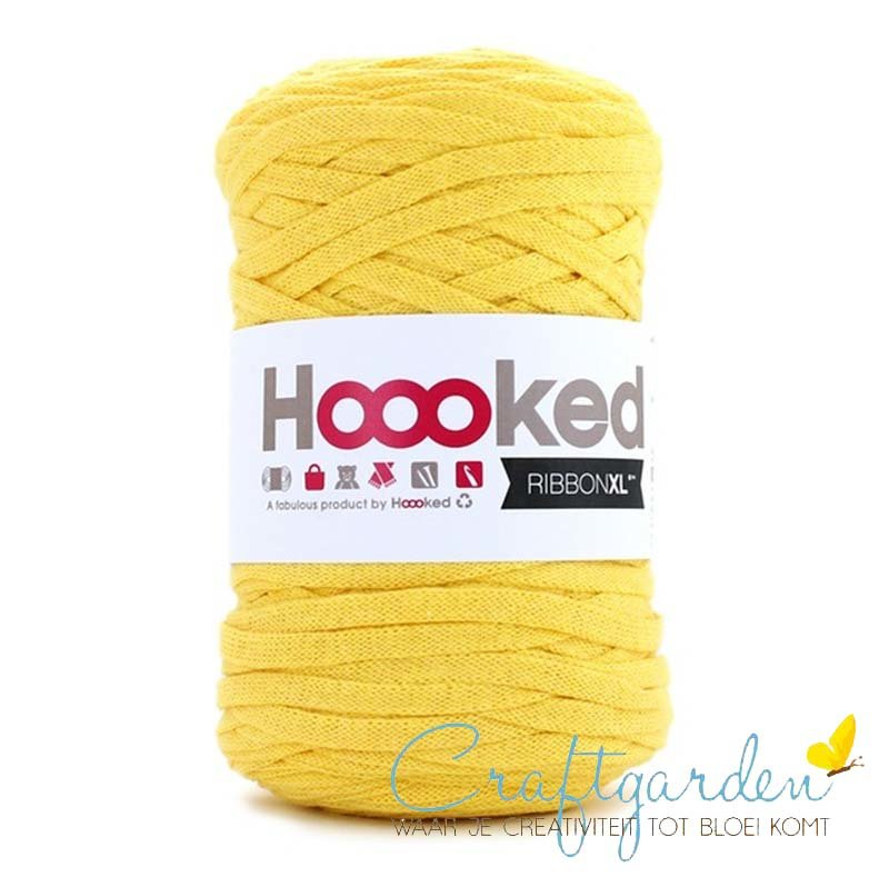 Hoooked-RIBBONXL-250 gram -lemon yellow