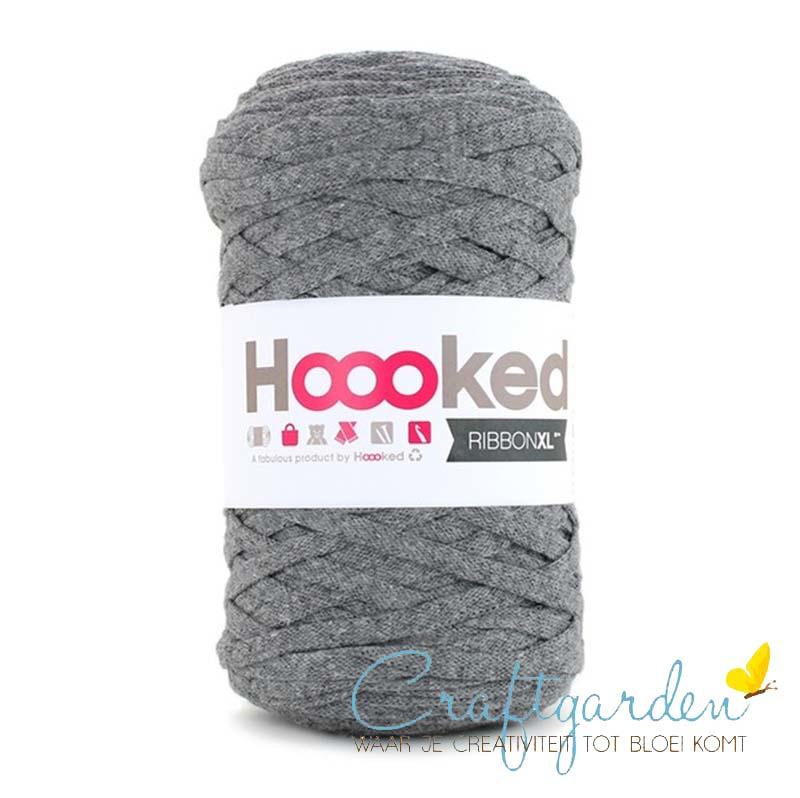 Hoooked-RIBBONXL-250 gram -stone grey