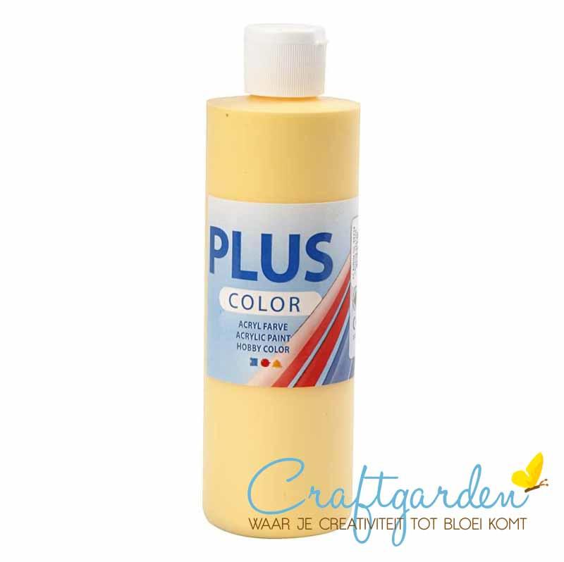 Plus color - acryl - Verf - 250 ml - Crocus Yellow - krokus geel