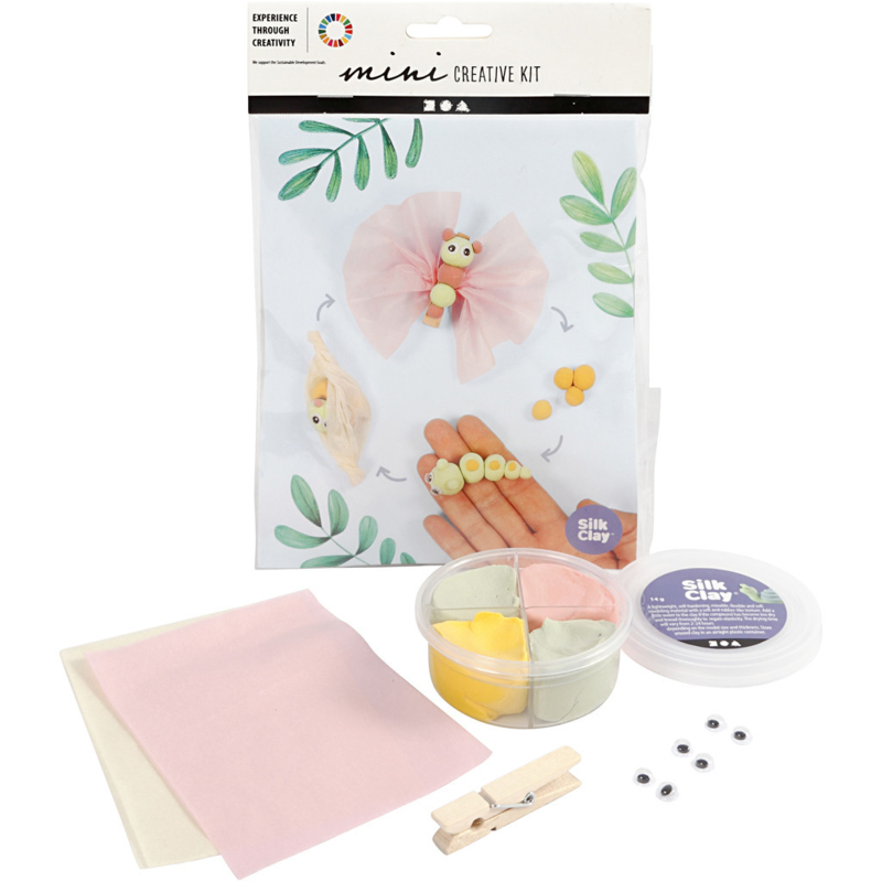 Mini Creative Kit, klei-levenscyclus vlinder, 1set