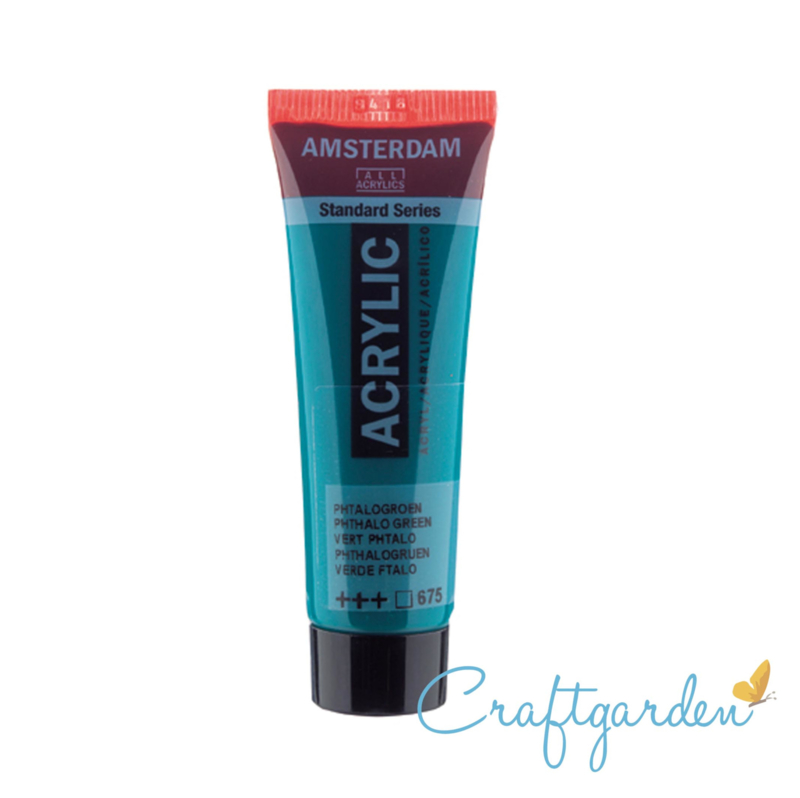 Amsterdam - All Acrylics - 20 ml -Phtalo groen - 675