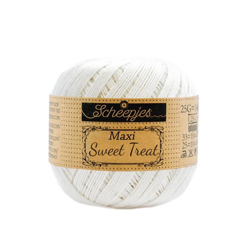 Scheepjes - maxi sweet treat - katoen - 25 gram -  ivory - 105