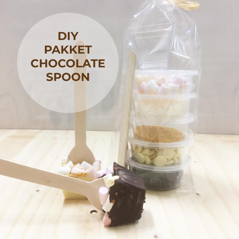 DIY Pakket- chocolate spoon