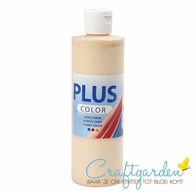 Plus color - acryl - Verf - 250 ml - Fleshtone Light - licht beige