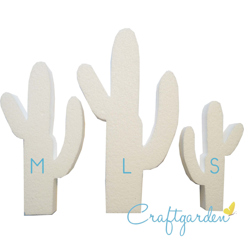 Styropor - Piepschuim - Cactus - maat S - 14 x 8 x 3 cm