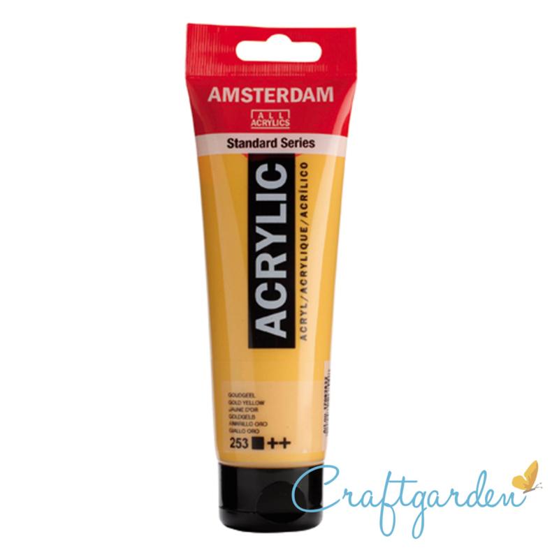 Amsterdam - All Acrylics - 120 ml - goudgeel - 253