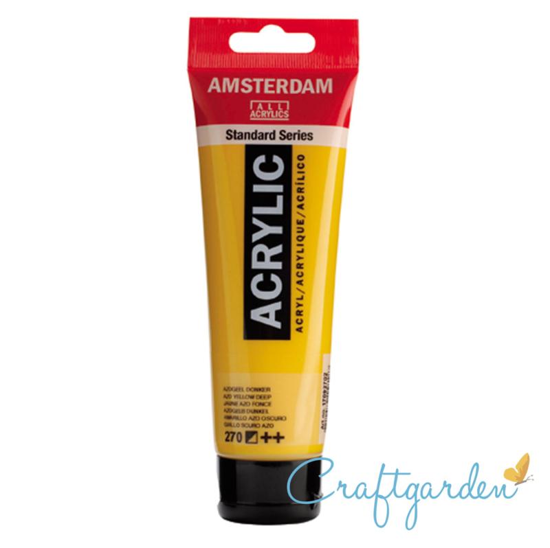 Amsterdam - All Acrylics - 120 ml - azogeel - donker - 270