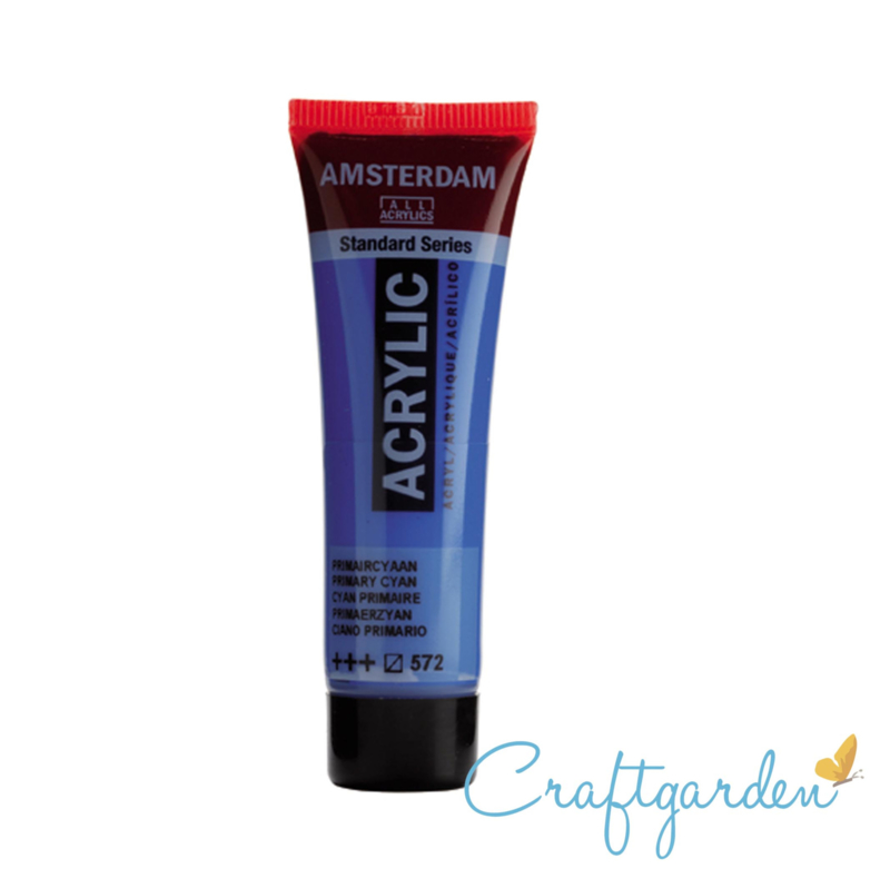Amsterdam - All Acrylics - 20 ml - primair cyaan - 572