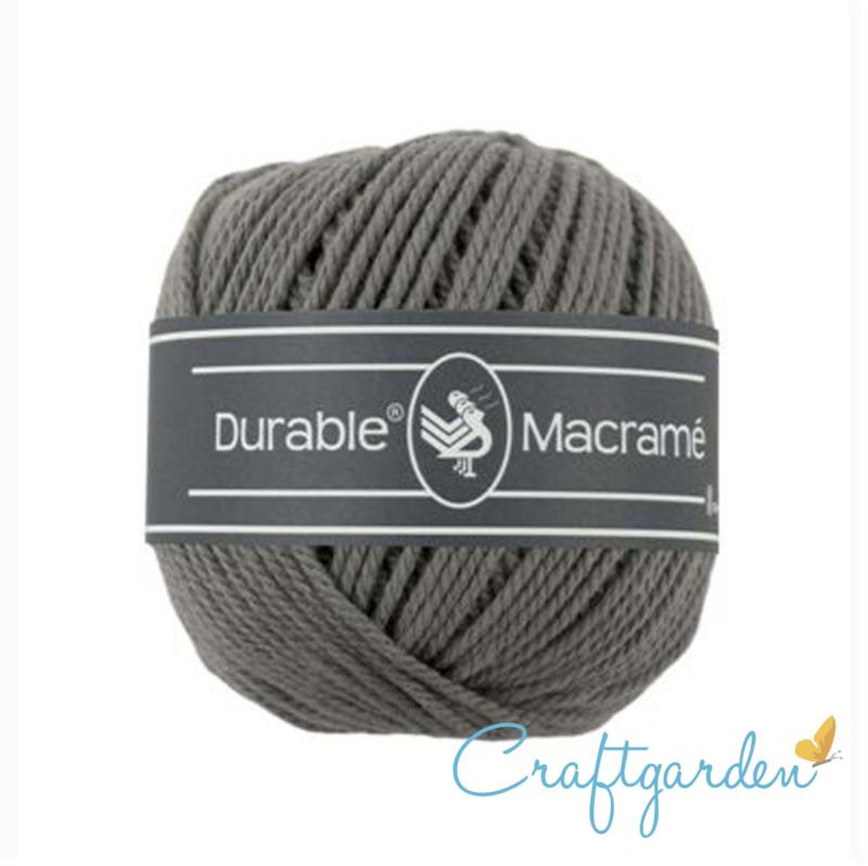 Durable - macramé - as grijs - 2235