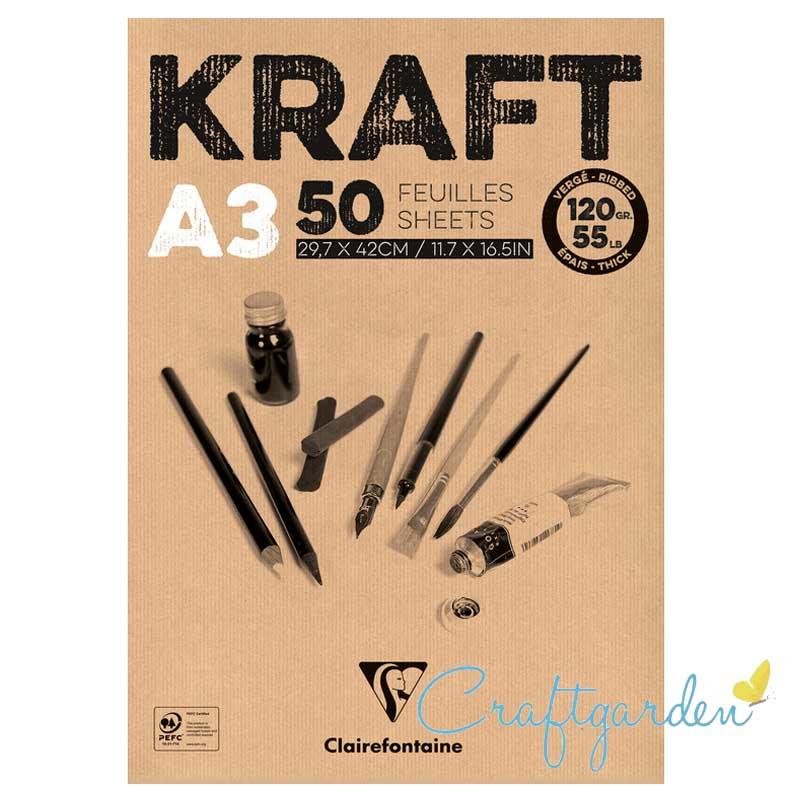 Clair Fontaine - Kraft papier - 120 gram - A3
