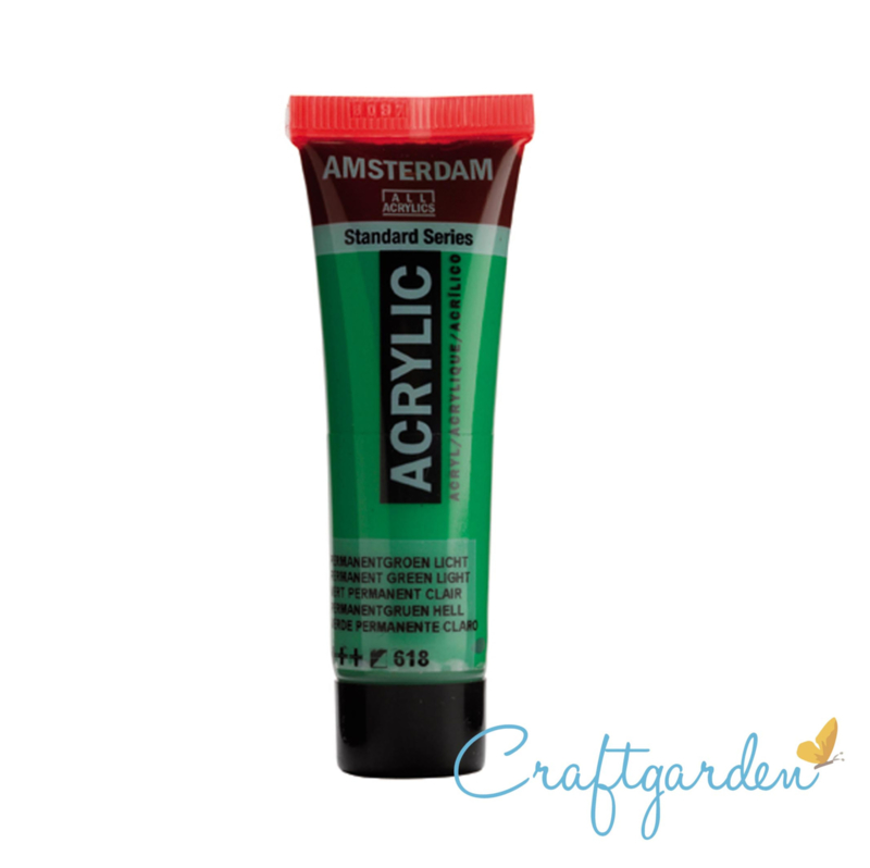 Amsterdam - All Acrylics - 20 ml - Permanent groen licht - 618