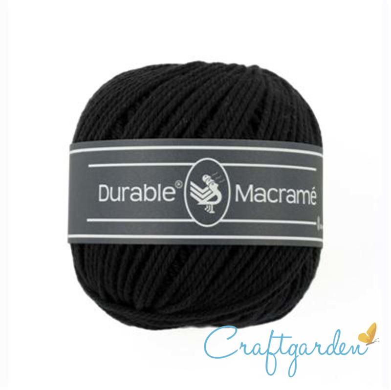 Durable - macramé - zwart - 325