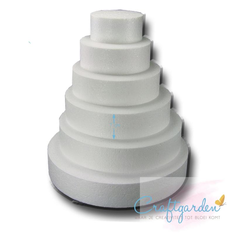Styropor - piepschuim  - taartvorm - 7 cm x 25 cm