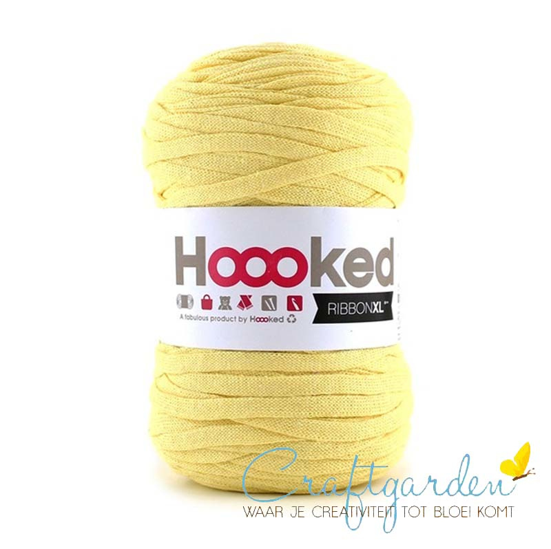 Hoooked-RIBBONXL-250 gram -frosted yellow