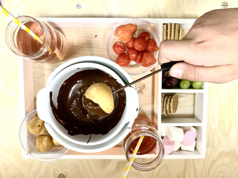Extra bij te boeken - Chocolade fondue