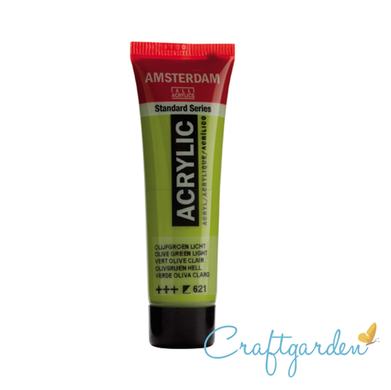 Amsterdam - All Acrylics - 20 ml -Olijf groen licht - 621