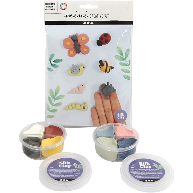 Mini Creative Kit,klei - insecten, 1set
