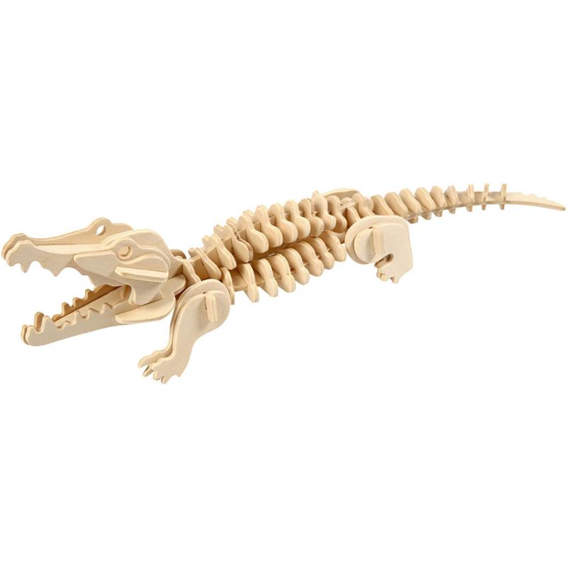 3D Houten- krokodil-33x10x10 cm