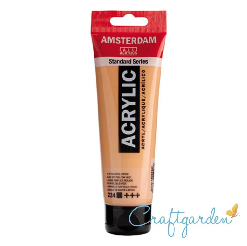 Amsterdam - All Acrylics - 120 ml - napels geel - rood - 224