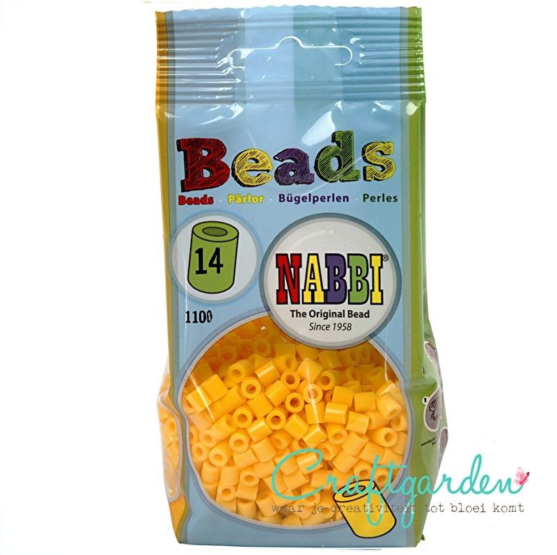 Strijkkralen - Nabbi - kleur - geel - 14