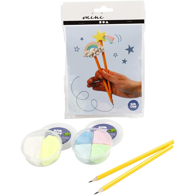 Mini Creatieve Set-klei - potloden, 1set