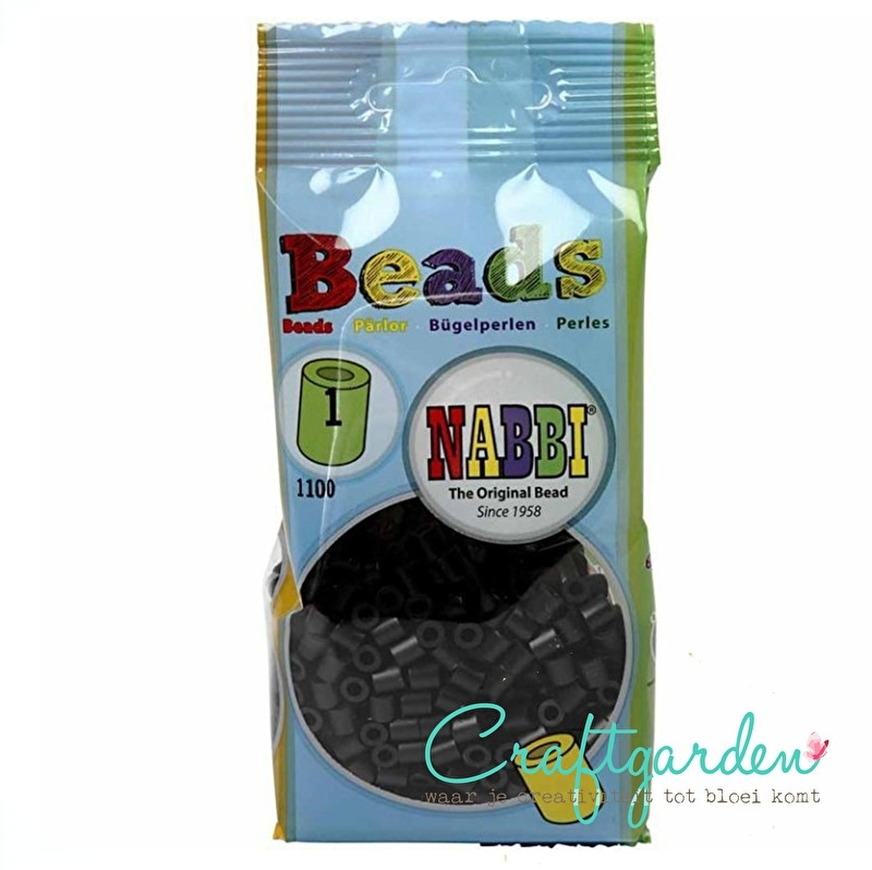 Strijkkralen - Nabbi - kleur - zwart - 1