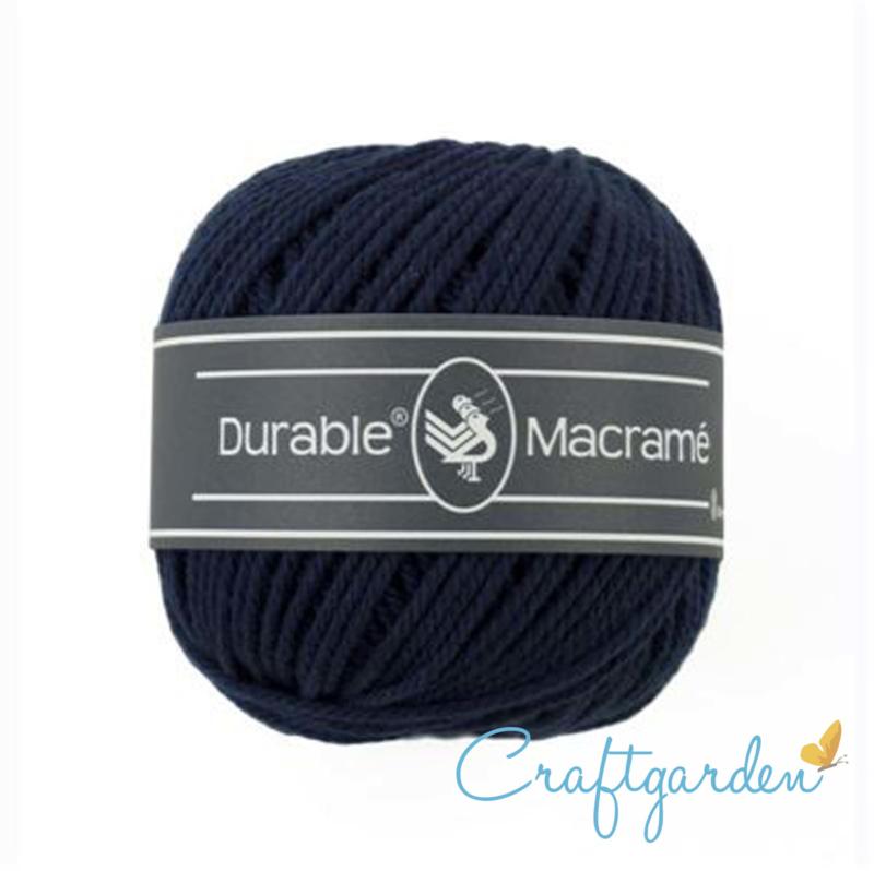 Durable - macramé - navy - 321