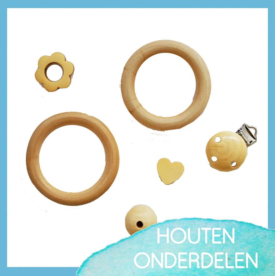 Craftgarden - houten - onderdelen - ringen - kralen