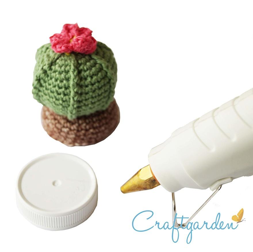 patroon - deksel  - potje - haken - cactus
