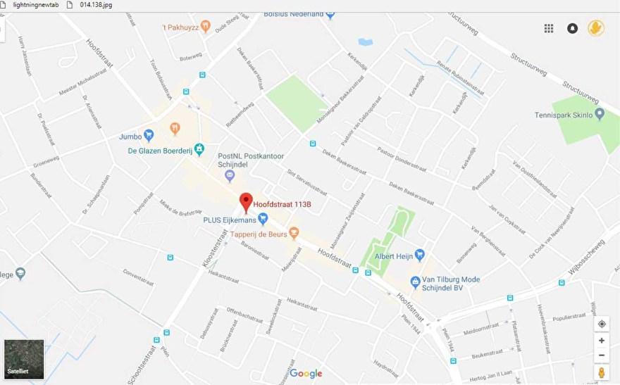 Google maps - craftgarden - routeplanner - hobbywinkel