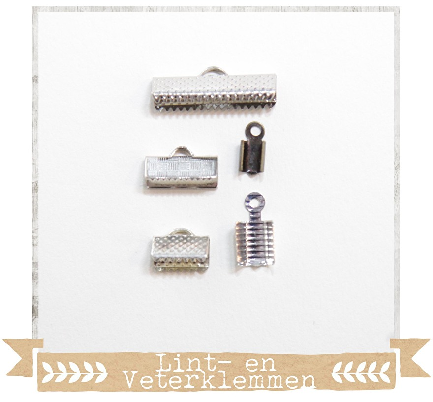 sieraden - onderdelen - diy - materialen - kralen - lintklemmen - verterklemmen - lintklem - veterklem - craftgarden