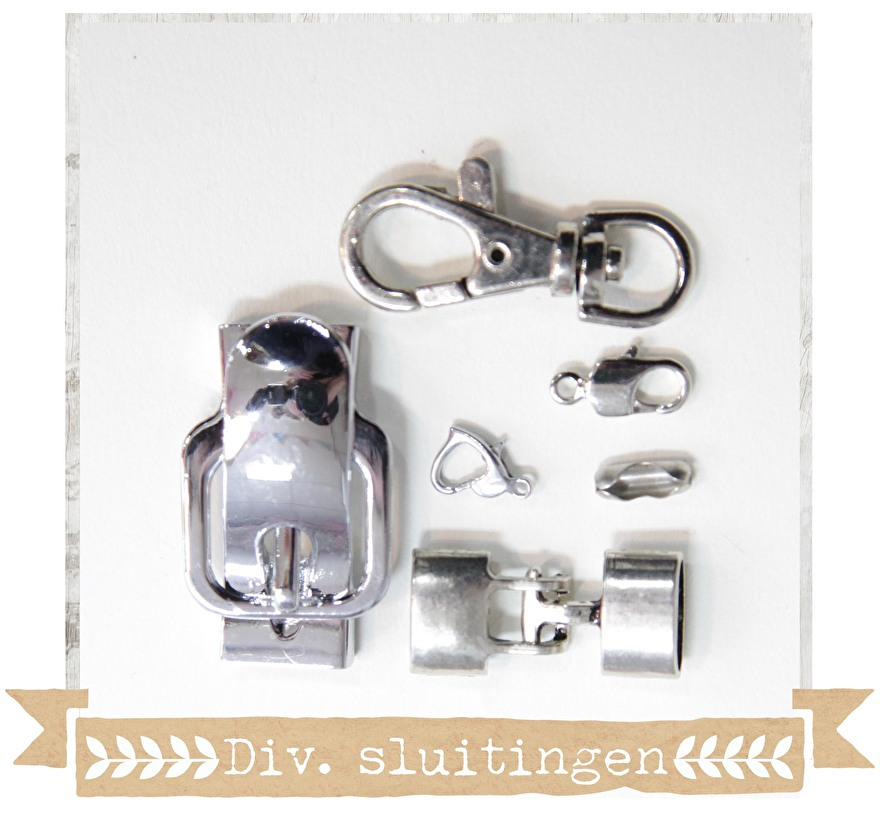 sieraden - onderdelen - diy - materialen - kralen - sluitingen - slotjes - karabijnsluiting - magnee sloten - craftgarden