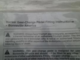 Rocker Gear-Change Pedal
