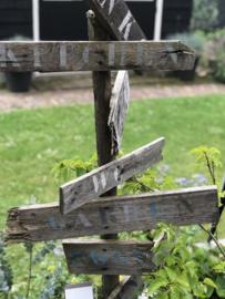 Tuin wegwijzer maken