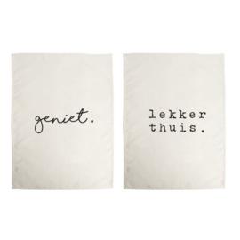 Theedoek Geniet / Lekker thuis  Gusta