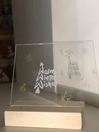 Kerst afbeelding en tekst op plexiglas