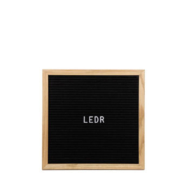 Letter bord ledr