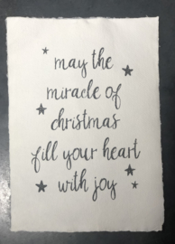 A4 poster handgeschept papier may the miracle of christmas