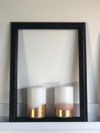 korte cross kaars gold blossom By Kimmi Rustik Lys