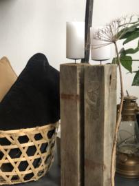 Robuuste houten Kandelaars
