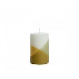 Stomp kaars cross eucalyptus goud  Rustik lys
