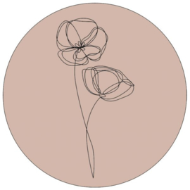 Muurcirkel viooltjes oneline oudrose