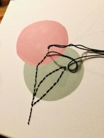 Canvas schilderij maken met verf en borduren