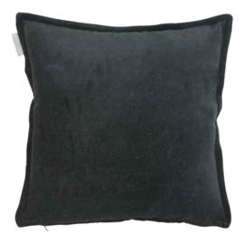 Kussen fluweel go'round Cotton velvet zwart 45x45