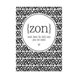 Tuinposter 'Zon'